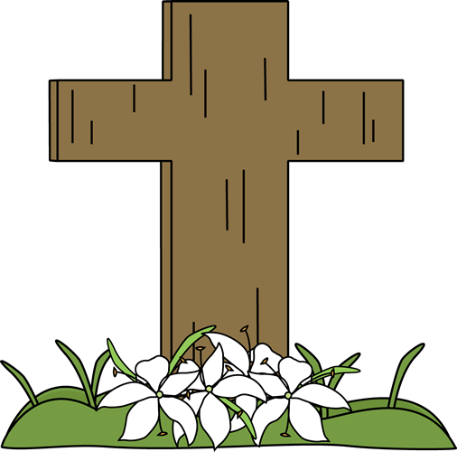 Easter Cross Clip Art N13 free image.