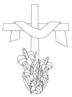 Easter Cross Clipart Black And White.