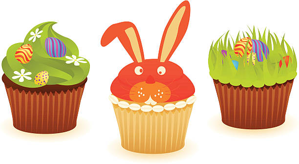 Best Easter Cupcake Illustrations, Royalty.