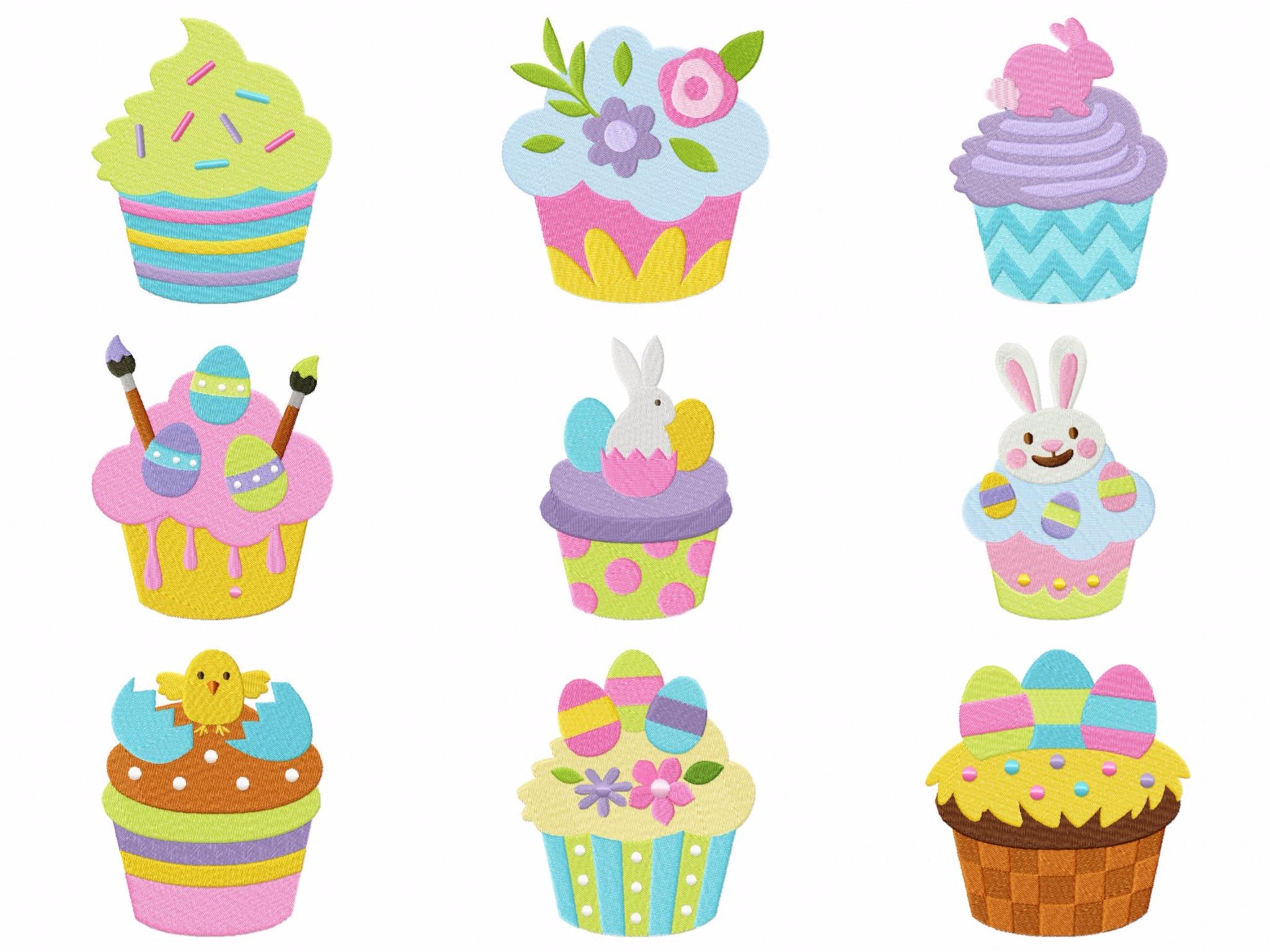 Easter clip art cupcake.