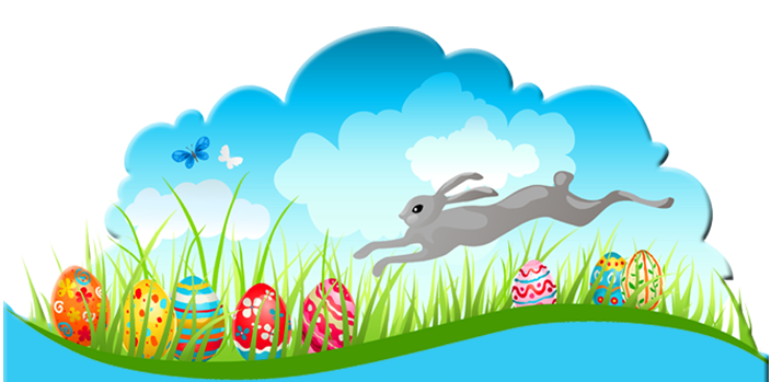 Easter Decor PNG Clipart Picture.
