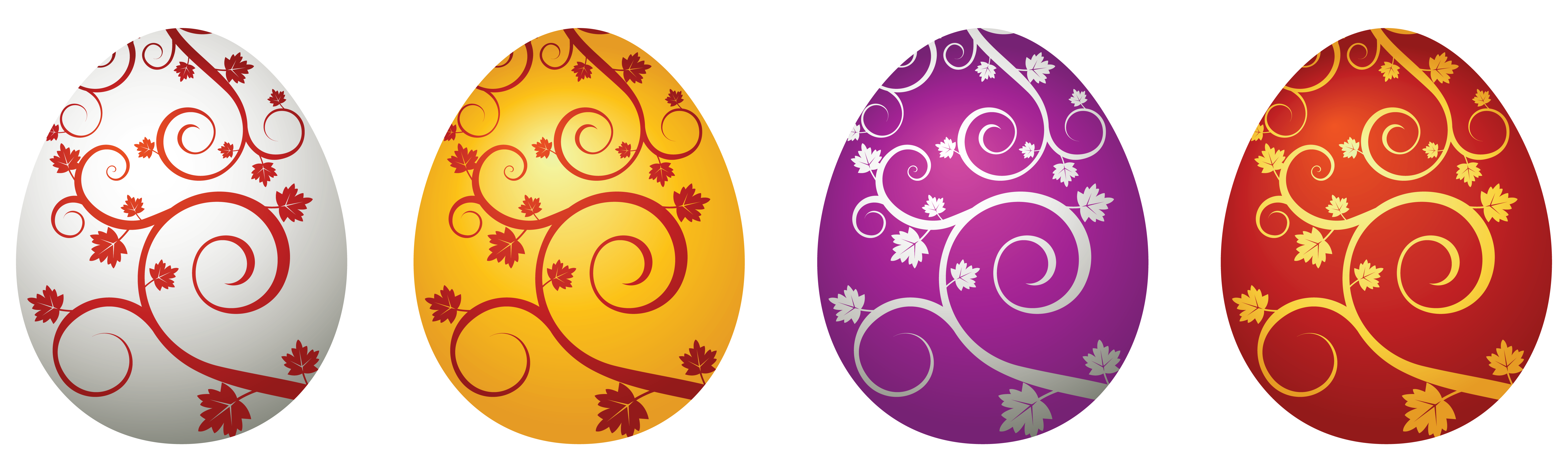 Easter Eggs Decorative PNG Clipart Picture.