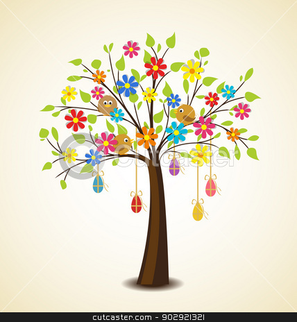 Easter Tree Clipart.