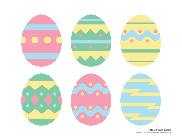 Easter Basket Template, Easter Basket Clipart & Easter Craft.