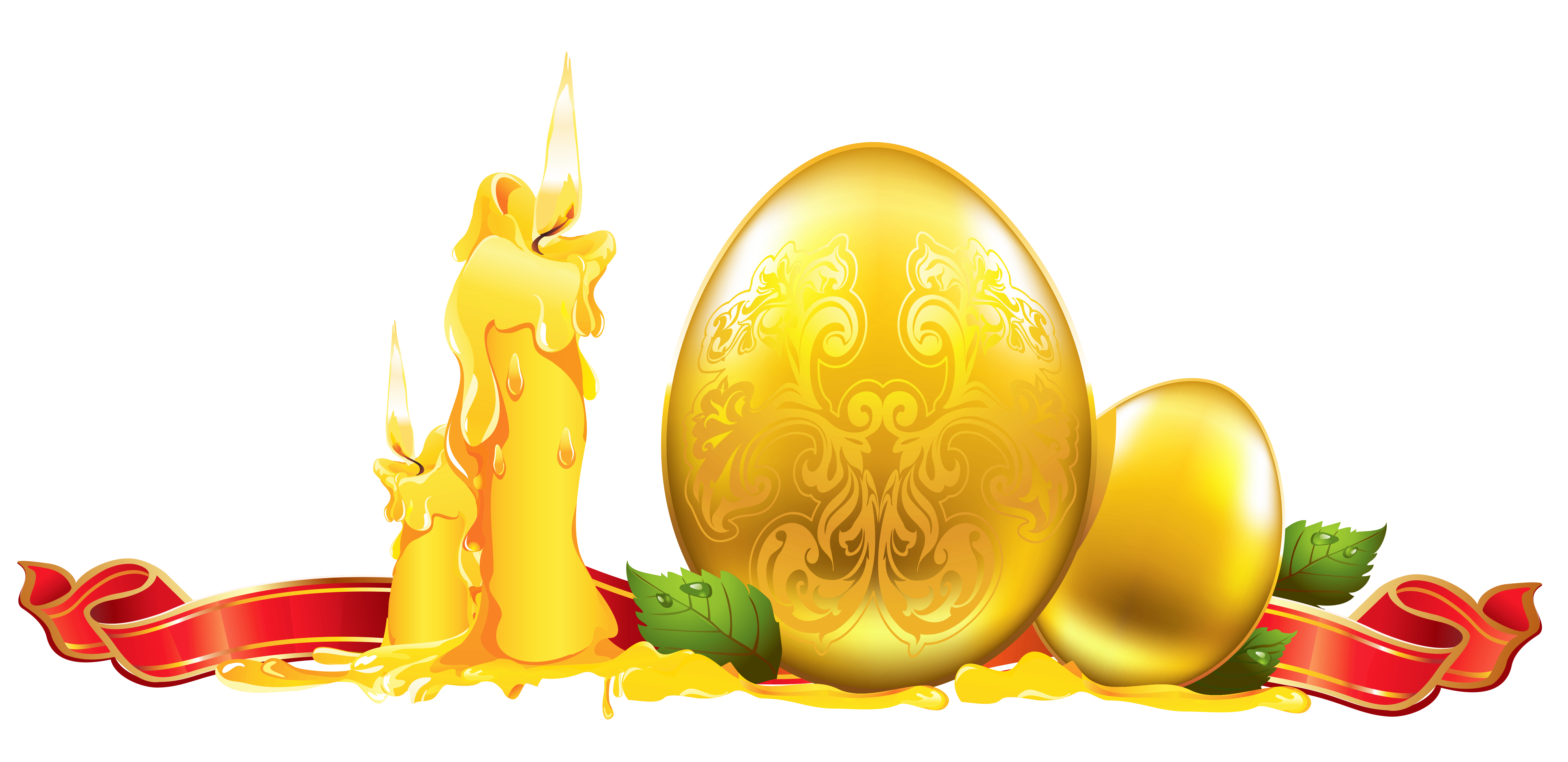 Easter Golden Decoration PNG Clipart.