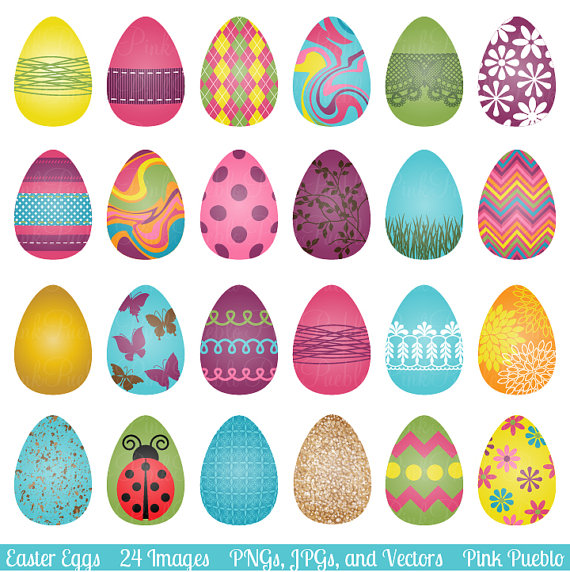 Easter Eggs Clipart Clip Art Easter Clip Art Clipart by PinkPueblo.