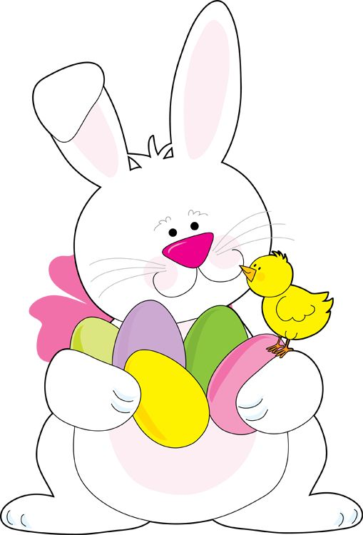 clipart easter bunny exercising image #12