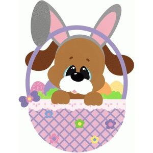 Easter clip art dog.