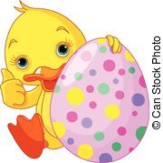 Easter Ducks Clip Art.