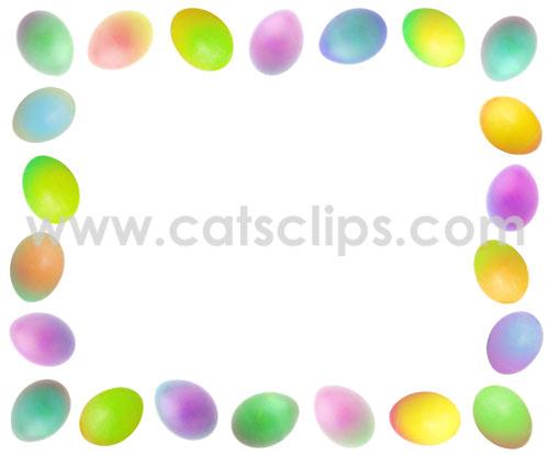 easter egg border
