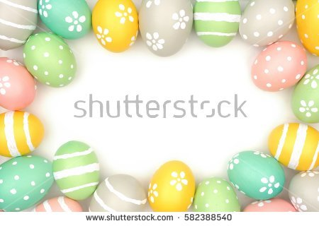 Easter Border Stock Images, Royalty.