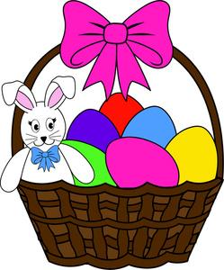 Clipart Easter Basket Bunny.