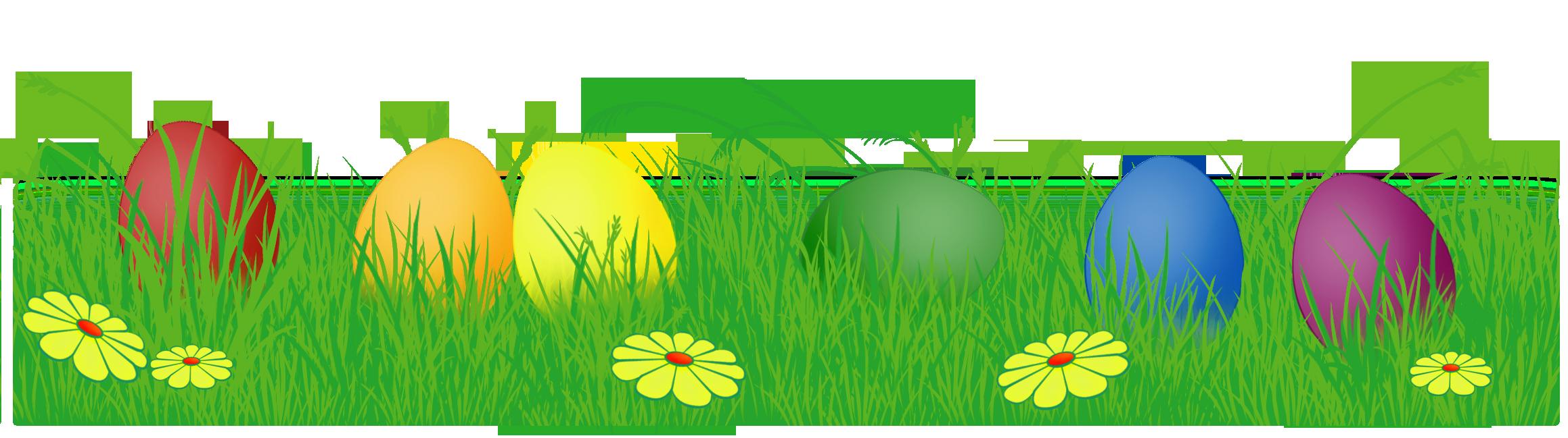 Easter egg clip art border.