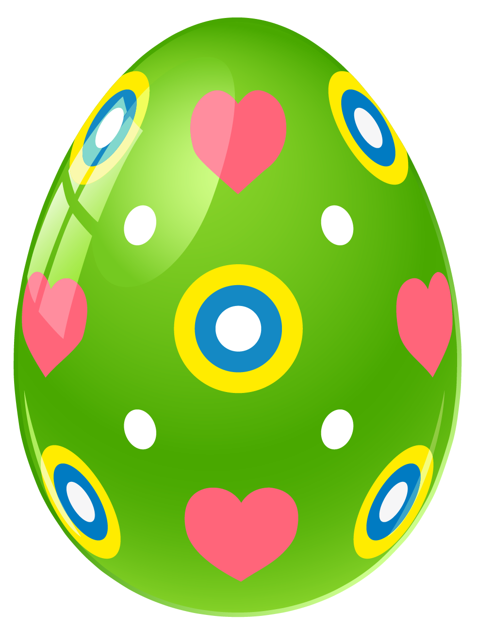 easter eggwith polka dots black and white clipart #6