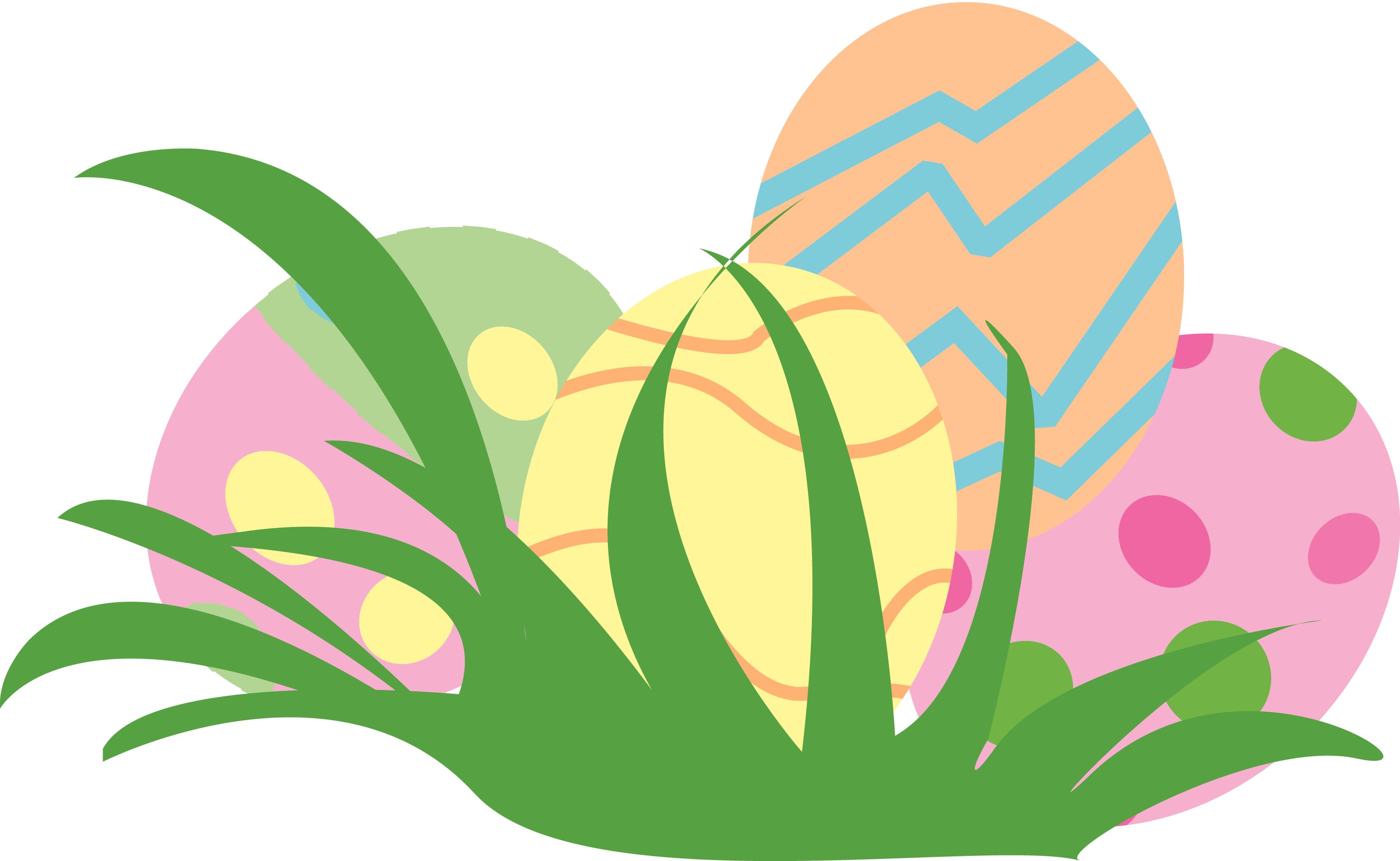 Trail of easter egg clipart.
