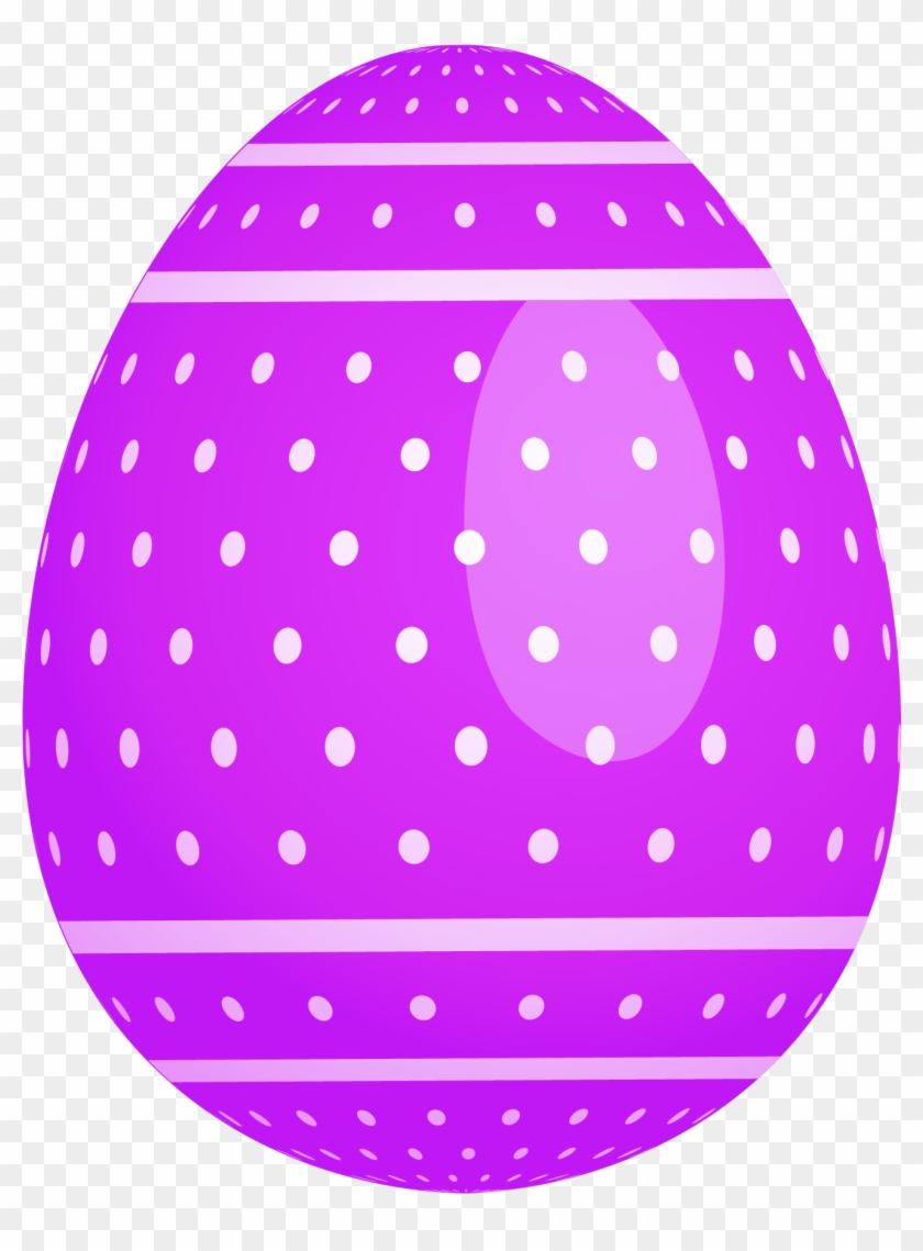 Purple Dotted Easter Egg Png Clipart.