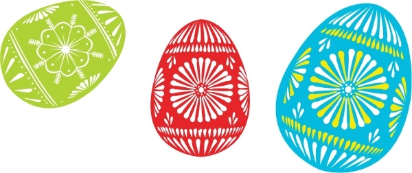 Colour Easter Eggs clip art Free vector in Open office drawing svg.