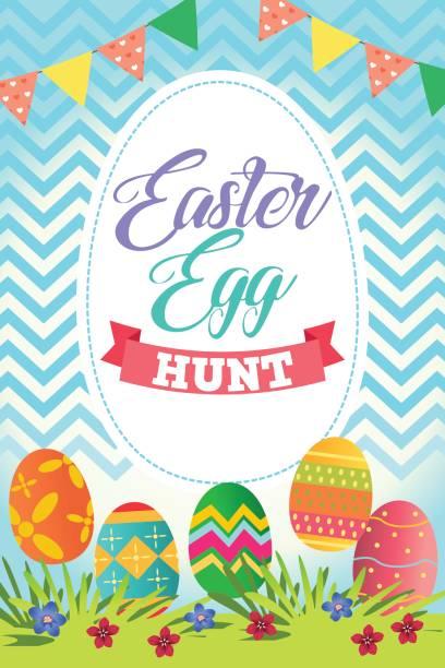 Best Easter Egg Hunt Illustrations, Royalty.
