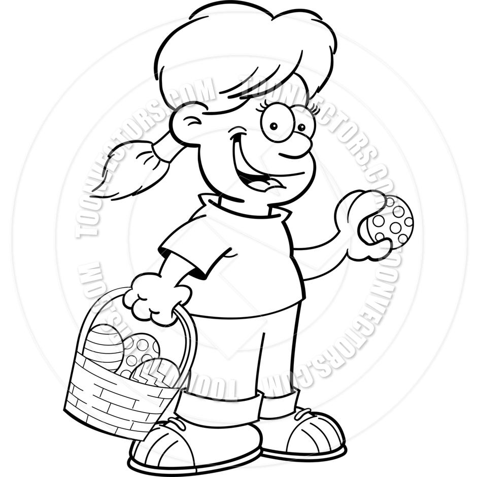 Easter egg hunt clipart black and white 5 » Clipart Station.