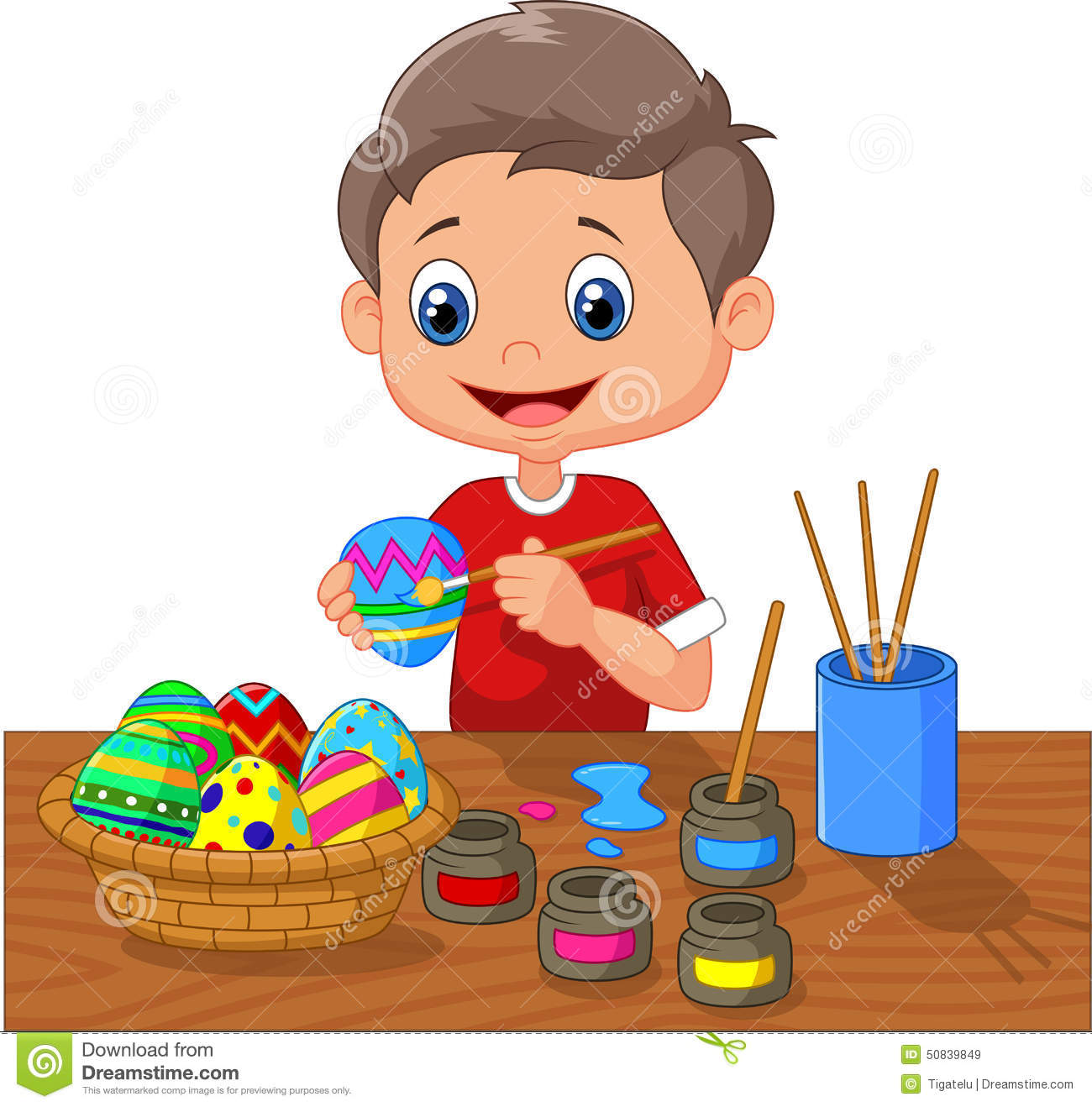 Easter egg clipart to paint.