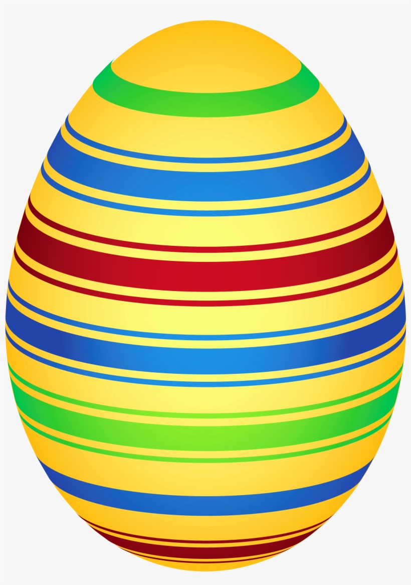Yellow Colorful Easter Egg Png Clipairt Picture.