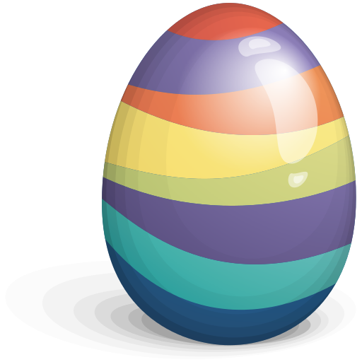 Beautiful Easter Eggs PNG.