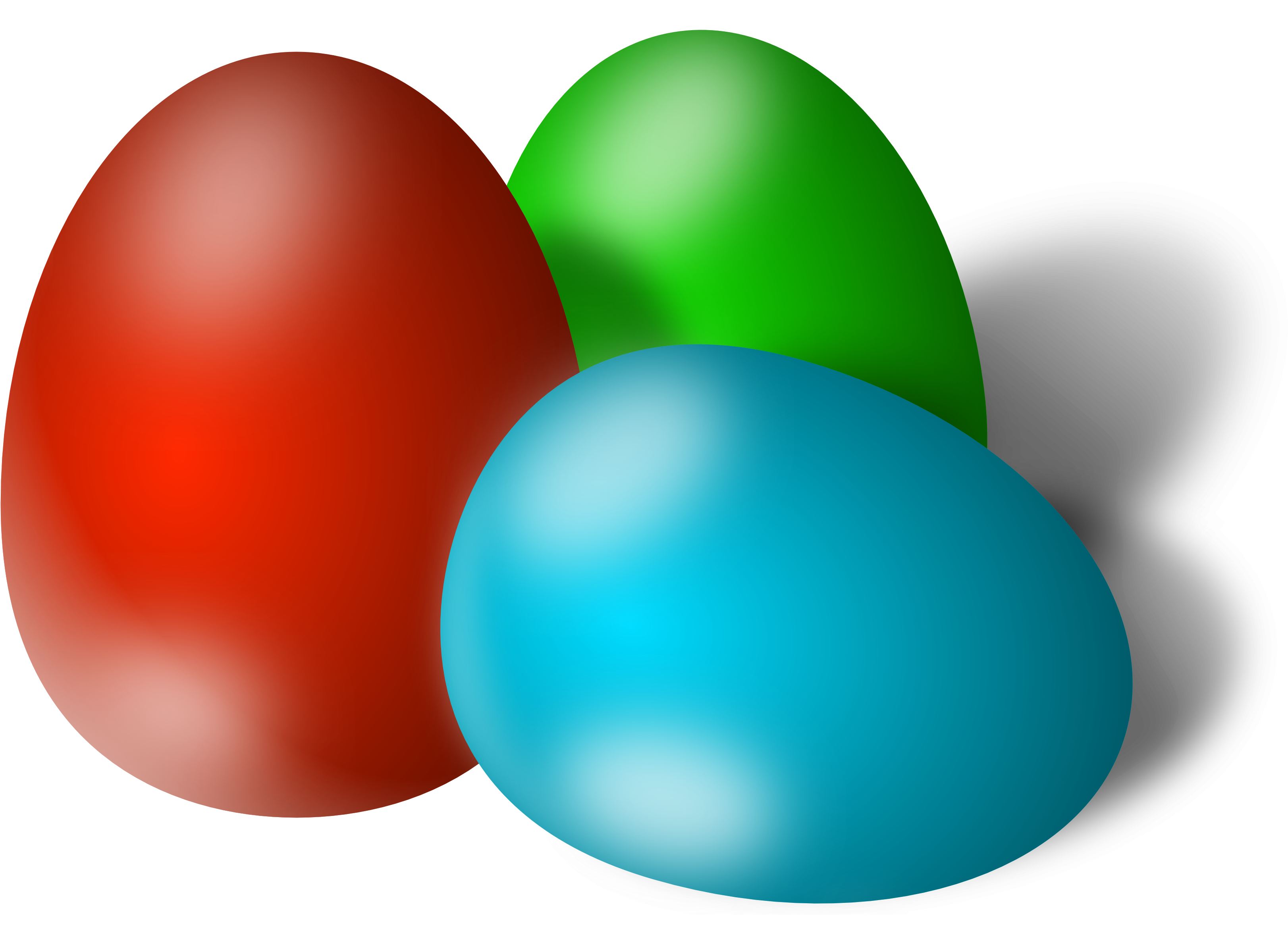 HD Easter Eggs Png.