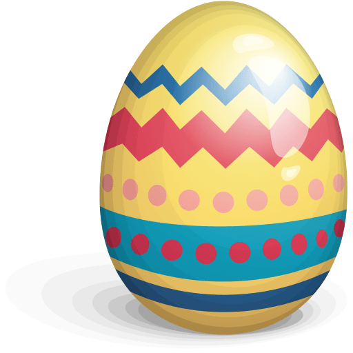 Easter Egg Yellow transparent PNG.