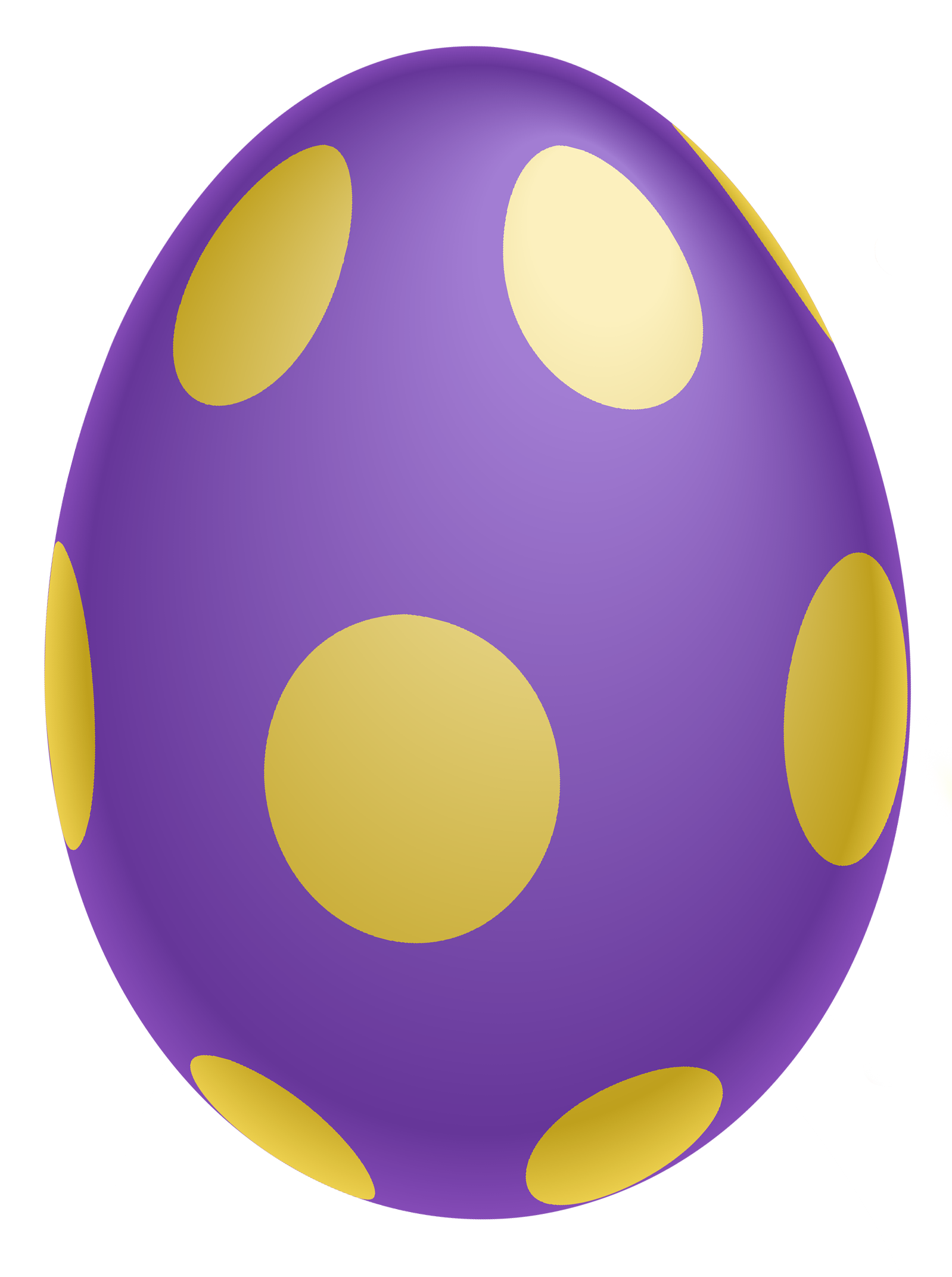 Purple Dotted Easter Egg PNG Clipairt Picture.