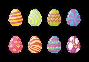 Easter Eggs Free Vector Art.