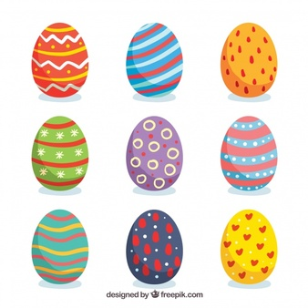 Easter Eggs Collection Vectors, Photos and PSD files.