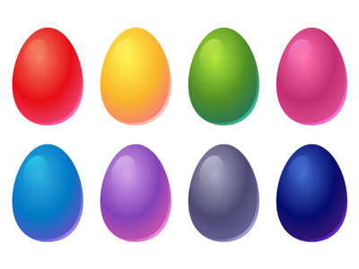 Free Vector Easter Eggs by pixaroma on Dribbble.