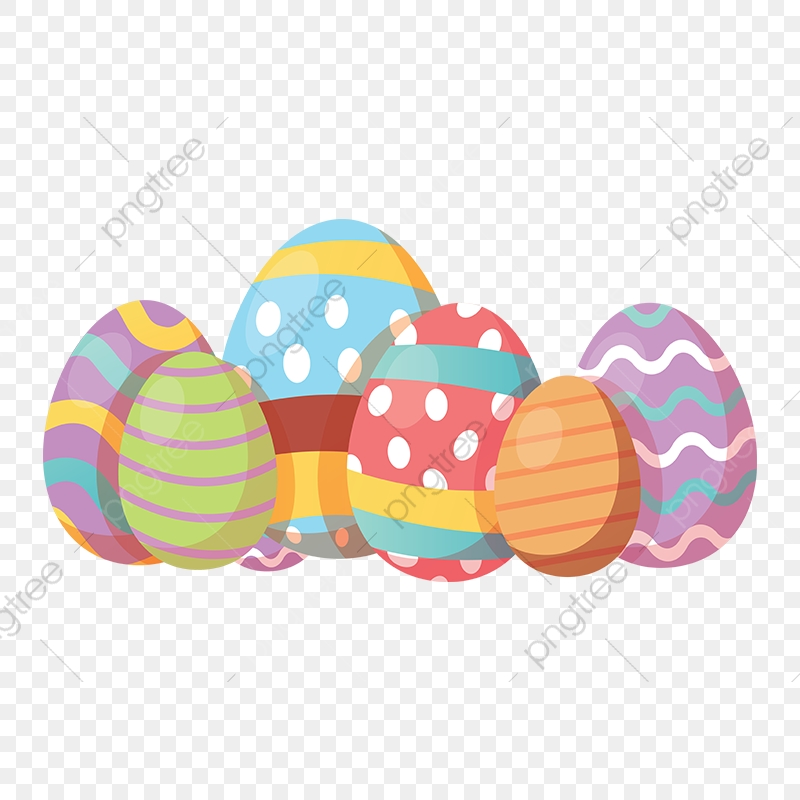 Decorative Easter Eggs Vector Elements, Decorative Eggs, Easter.