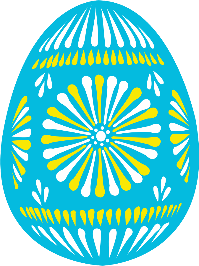 Easter eggs vector clipart.
