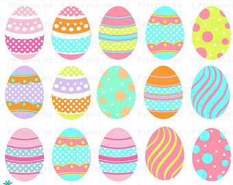 easter eggs clipart.
