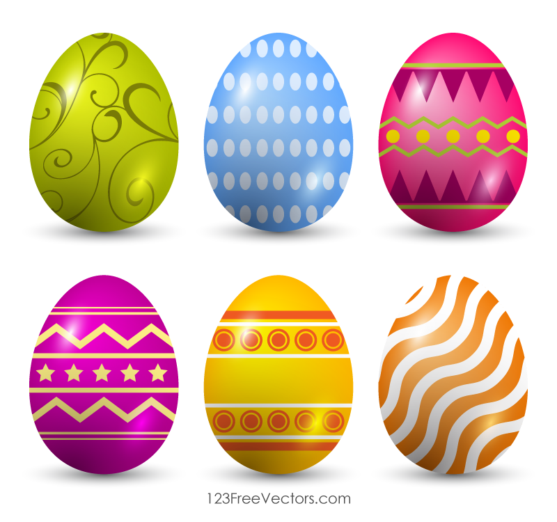 Free Clip Art Easter Eggs.