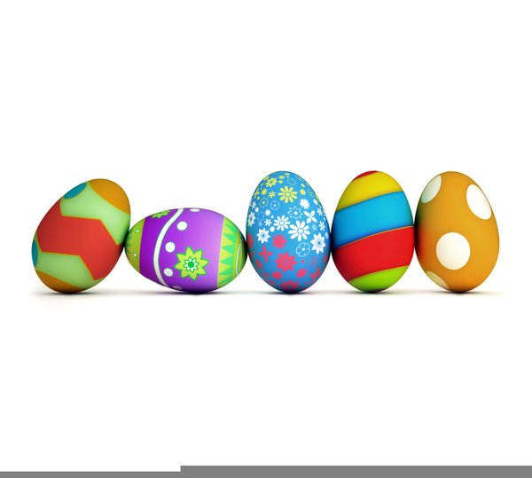 Free Clipart For Easter Eggs.