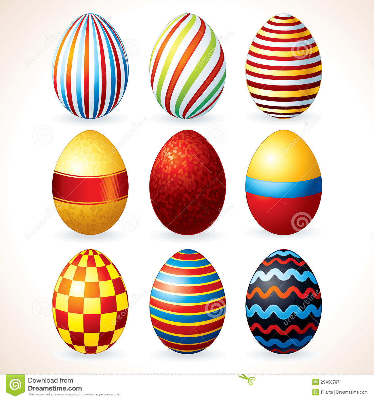 Easter Eggs. Vector Clip Art Royalty Free Stock Photography.