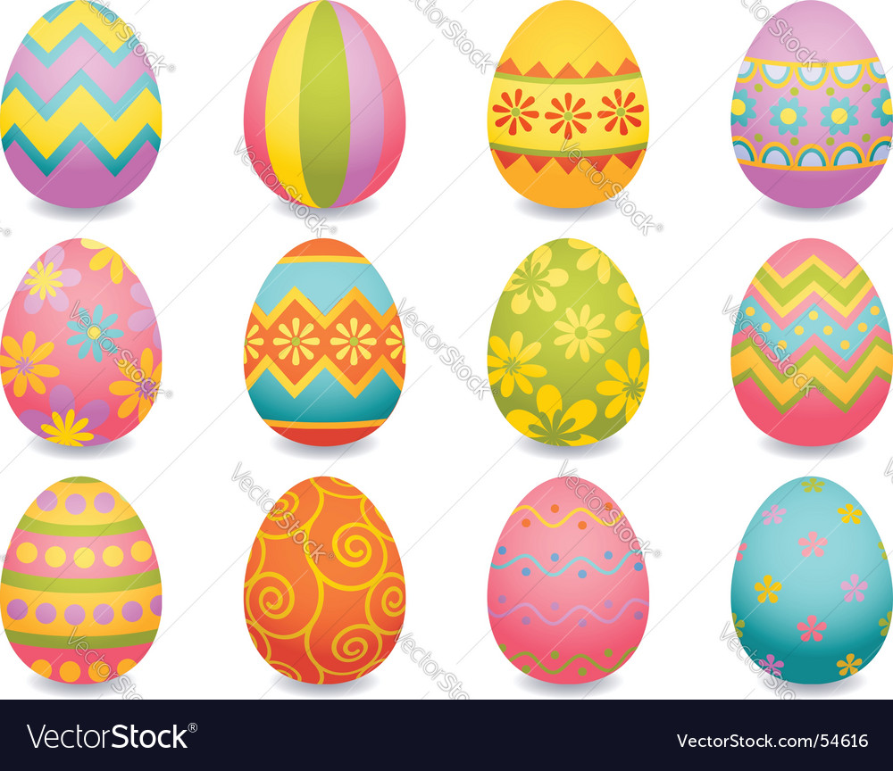 Easter egg Royalty Free Vector Image.