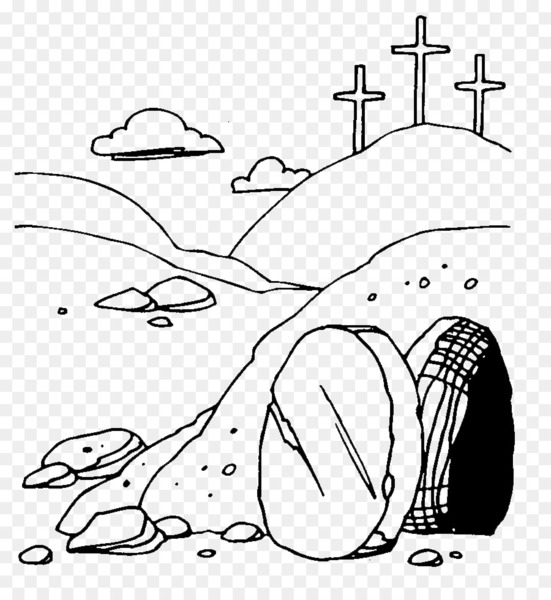 Resurrection of Jesus Easter Empty tomb Clip art.