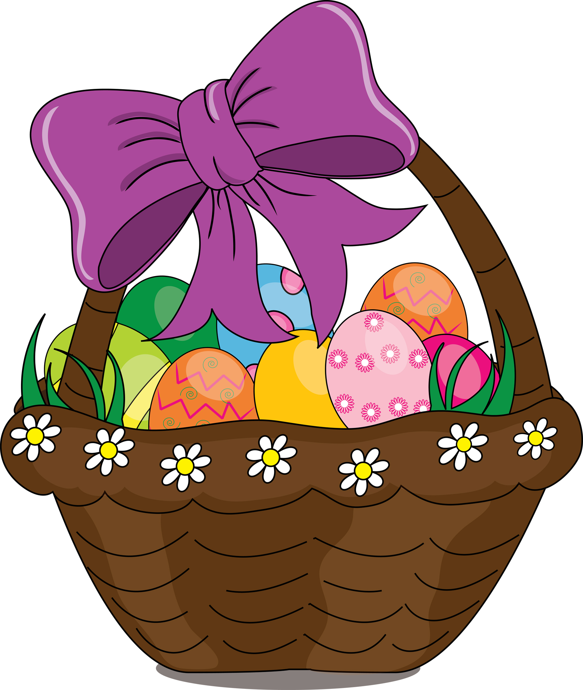 Easter baskets clipart.