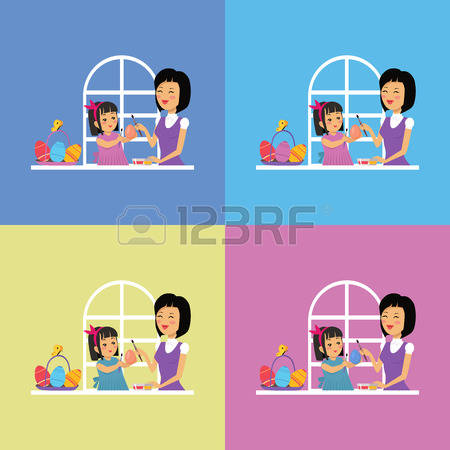 2,829 Easter Family Stock Vector Illustration And Royalty Free.