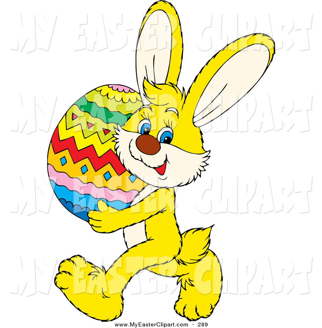 Easter bunny on firetruck clipart.