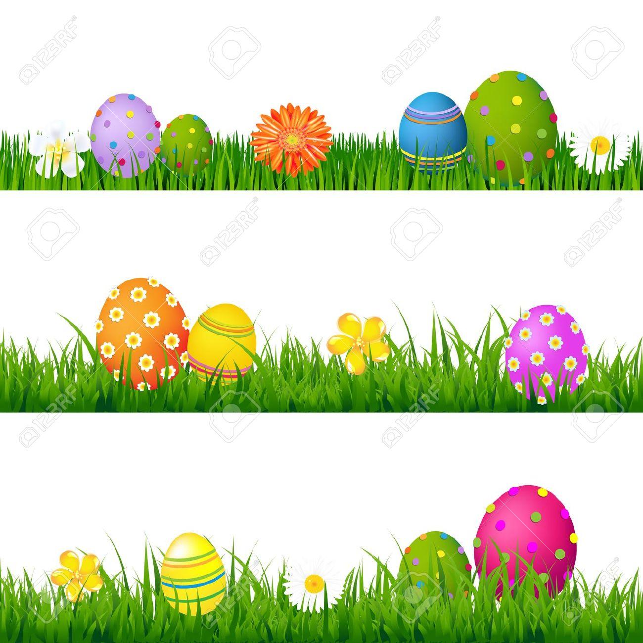 Easter Flower Clipart Background.