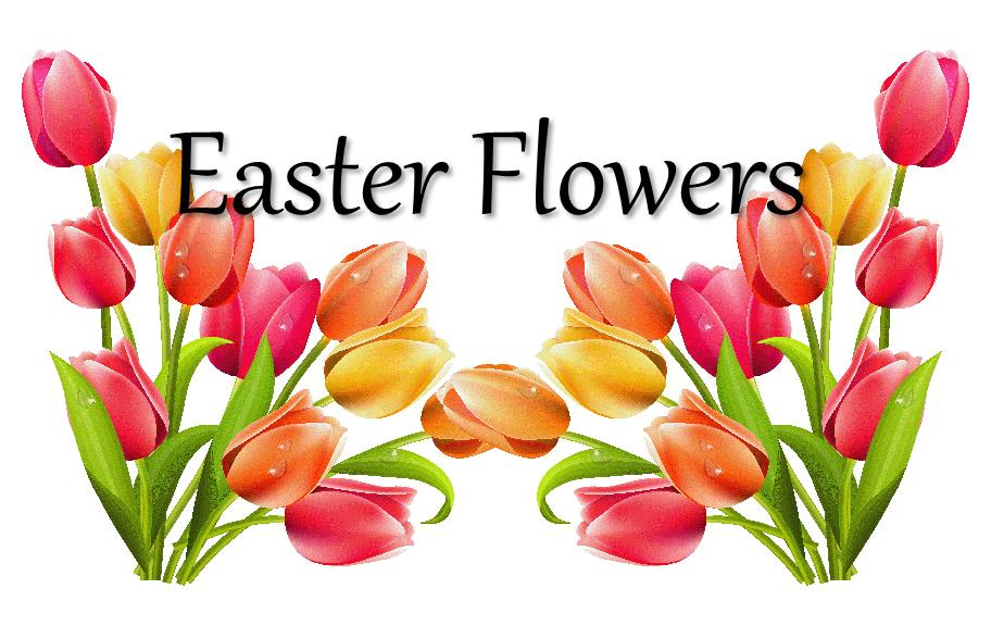 Easter Flowers Clipart.