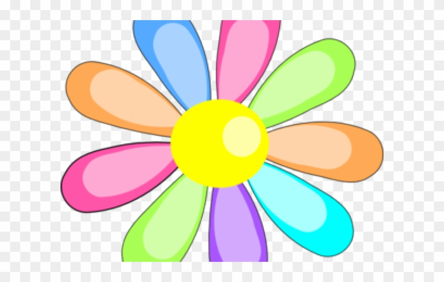 Easter Flower Clipart Rainbow Flower.