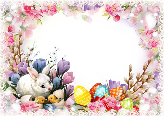 Easter Photoshop frame template ( free photo frame psd png, free.