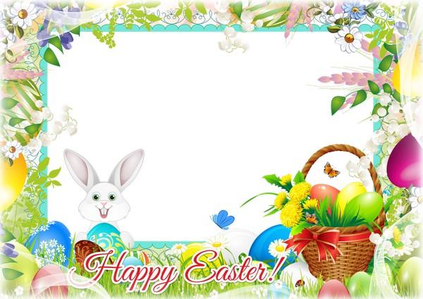 Png frame Easter Psd frame Easter. Transparent PNG Frame, PSD.