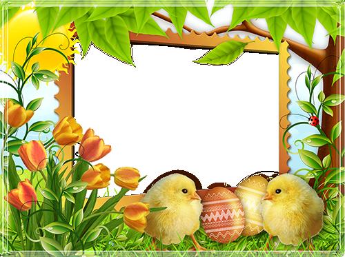 Easter Frames PNG High.