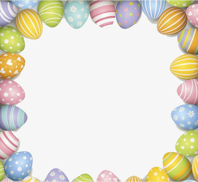 Gorgeous Easter Border Pattern, Style Galant, Easter, Frame PNG.